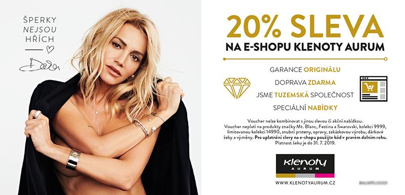 Klenoty Aurum CZ - Voucher 20%